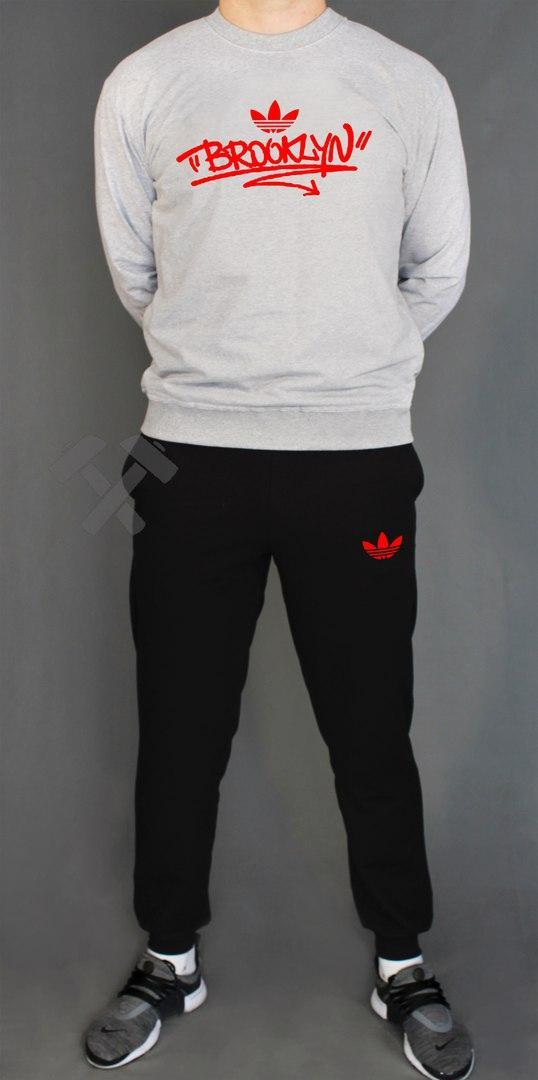 Спортивный костюм Адидас мужской, брендовый костюм Adidas трикотажный (на флисе и без) копия