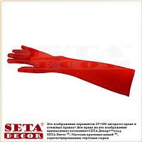 Длинные атласные красные перчатки