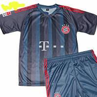 Детско-подростковая (7-15 лет) футбольная форма ''Рибери'' - ФК ''Бавария'' (Мюнхен) - сине-черная, резервная