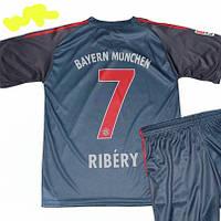 Детская (7-10 лет) футбольная форма ''Рибери'' - ФК ''Бавария'' (Мюнхен) - сине-черная, резервная