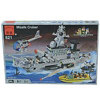 Конструктор Brick Военный корабль (821)