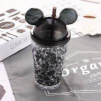 Необычная бутылочка для воды Микки Маус Ice Cup, Черная