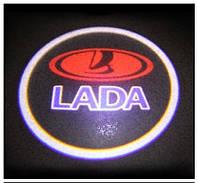 Дверной логотип LED LOGO 245 LADA, дверная подсветка, светодиодный логотип, подсветка двери на авто