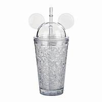 Стильная бутылочка-стакан для воды Микки Маус Ice Cup, Белая