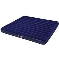 Матрас для отдыха Intex (синий, верх велюр) (68755)