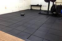 Резиновая плитка 500х500х30 черный