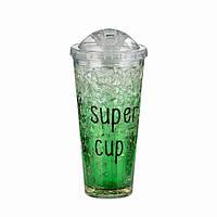 Бутылочка-стакан охлаждающая Ice Cup. Зеленая