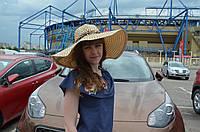 Шляпа с леопардовым бантом