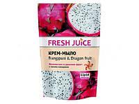 Жидкое крем-мыло Fresh Juice  Франжипани и драконов фрукт дой-пак 460мл