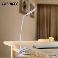 Настольная LED лампа REMAX Milk на клипсе (белый)