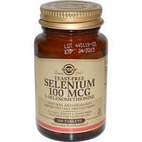 Селен без дрожжей (Selenium), Solgar, 100 мкг, 100 таблеток