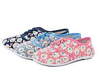 Спортивная обувь. Кеды для девочек от фирмы Lion 251-57A (24пары,31-36)