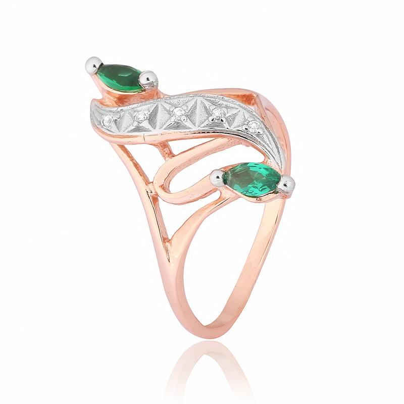 """Серебряное кольцо с имитацией изумруда """"149"""""""