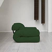 """Кресло кровать """"Hipo"""" зеленое , раскладное кресло,кресло диван, кресло для дома, бескаркасное кресло."""