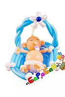 """Фигура из шаров """"Малыш в колыбели"""""""