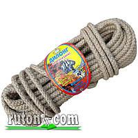 Веревка джутовая плетеная 10мм-20м-бухта-Украина
