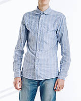 Голубая сорочка мужская