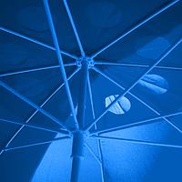 Пляжный зонт Синий, от 1.8 до 3-ех м. Есть квадраты