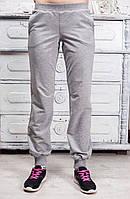 Спортивные штаны женские брюки с манжетами серые черные  42 44 46 48 50 Р, фото 1