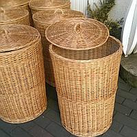 Плетеные корзины для белья из лозы