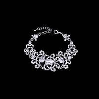 Свадебный браслет покрытие серебро 4712-вс
