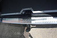 Vito 638 Накладка на задний бампер матовая сталь Omsa