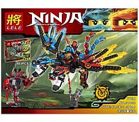 Конструктор  Ninjago 503 детали. Ниндзя го  конструктор.