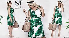 Женственное платье с сочным летним принтом. Пояс в комплекте.