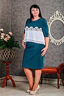 Красивое женское платье прямого кроя, батальные размеры