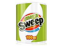 Бумажные полотенца Mega Sweep, 100 м (Польша)