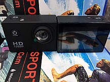 Экшен камера X7, FULL HD, водонепроницаемый бокс, экран 2 дюйма. 2 цвета, фото 2