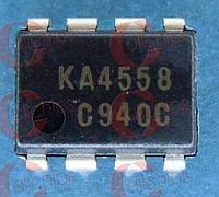 ОУ 2-канала Fairchild KA4558 DIP8