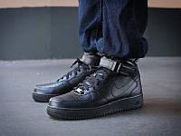 """Кроссовки Оригинал Nike Air Force 1 High '07 """"Black"""" (315121-032)"""