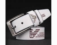 Кожаный ремень Armani (301) white