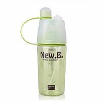 Бутылочка для спорт-зала с распылителем New B. 400мл (Green)
