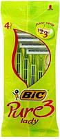 Набор бритв без сменных картриджей BIC Pure 3 Lady 4 шт