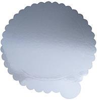 Подложка под торт диаметр 300 мм утолщенный 2-ух сторон (зол/сер) (1уп =10 шт) Empire 0205