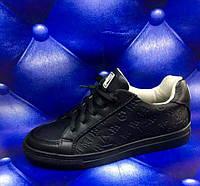 Женские кожаные кеды Louis Vuitton черные