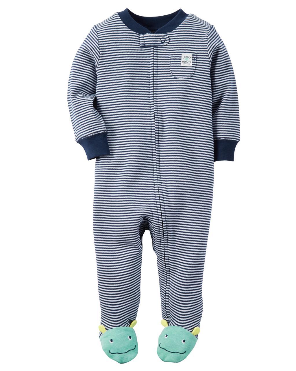 Человечек хлопковый на молнии Сон & Игра Carters на новорожденного мальчика до 55 см