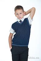 Жилет для мальчика ОТМ Дизайн 1035/1 шахматка 110-116