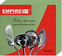 Кухонный набор в подарочной уп. с вешалкой 5 крючок на стенке Empire 6016