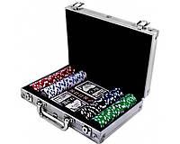Покерный набор в алюминиевом кейсе на 200 фишек