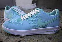 Жіночі Nike Air Force 1 Flyknit бірюзові