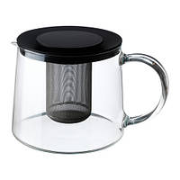 РИКЛИГ  Чайник заварочный, стекло 1,5 л, 90150071, IKEA, ИКЕА, RIKLIG