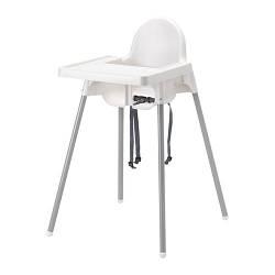 АНТИЛОП Высокий стул со столешницой, серебрянно-белый, 29067293, IKEA, ИКЕА, ANTILOP