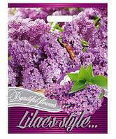 """Пакет с прорезной ручкой (30*37+3) Цветы """"Сирень""""Леоми (50 шт)заходи на сайт Уманьпак"""