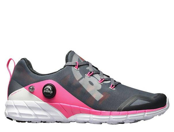 Оригинальные женские кроссовки Reebok ZPump Fusion Alloy Grey Pink Coal 605e6f38887
