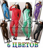 Спортивный костюм женский си змейкой и карманами модный и стильный 42 44 46 48 50 Р, фото 1