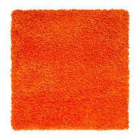 ХАМПЭН Ковер, длинный ворс, оранжевый, 80х80, 30305759, IKEA, ИКЕА, HAMPEN