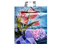 """Пакет с петлевой ручкой (40*45) """"Розовые Тюльпаны"""" Авентин (25 шт)"""